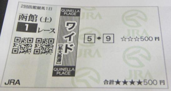 1レース500円の馬券術、馬券の買い方はワイドでも