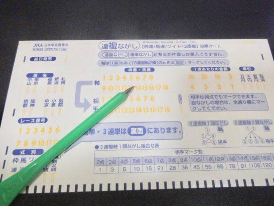 馬券術、1レース500円な買い方。資金管理と見栄との?