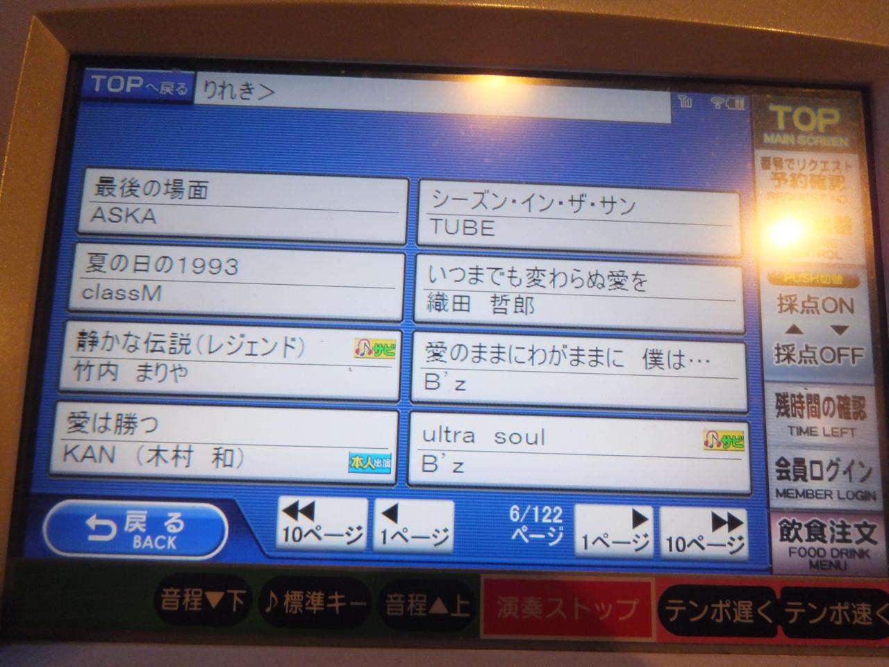 1人カラオケ・曲目リストvol4・B'z・織田哲郎・竹内まりや・画像写真