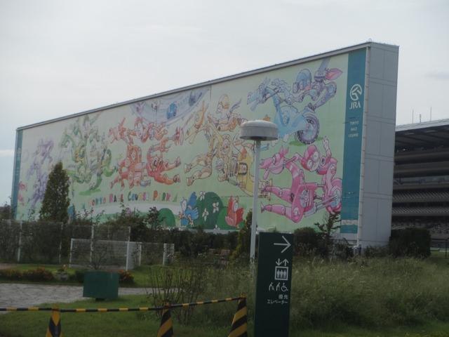 東京競馬場20140824・西側ターフビジョン ・裏側