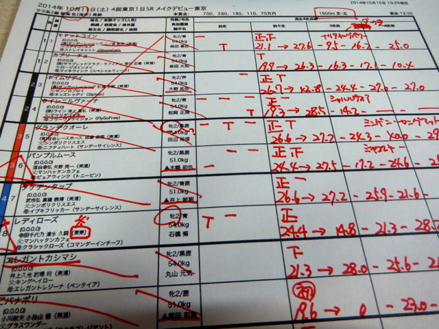 競馬予想と馬券の買い方。東京5レース、メイクデビュー東京新馬戦(芝1600m)。本命、クロフネ産駒モアアピール【複勝重視が基本】