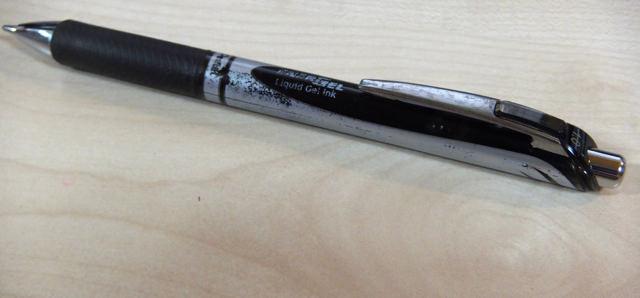 ノック式ぺんてるエナージェル1ミリボールペン
