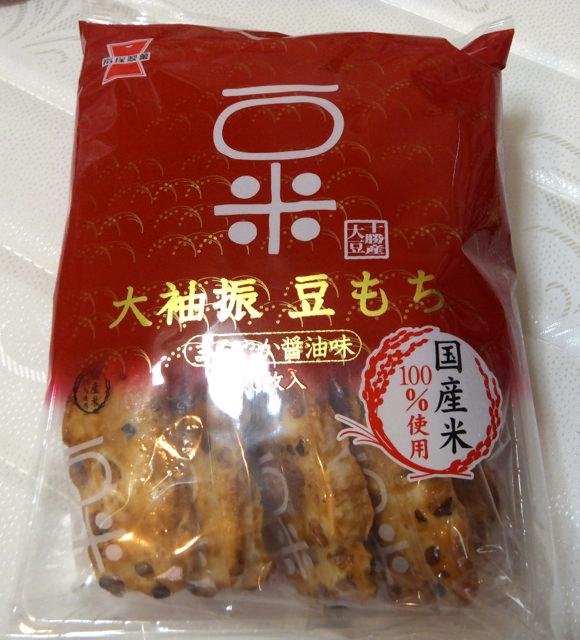 岩塚製菓のおかき 大袖振豆もち・まろやか醤油味