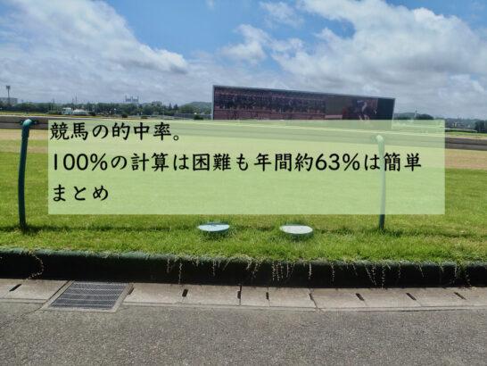 競馬の的中率。100%の計算は困難も年間約63%は簡単 まとめ
