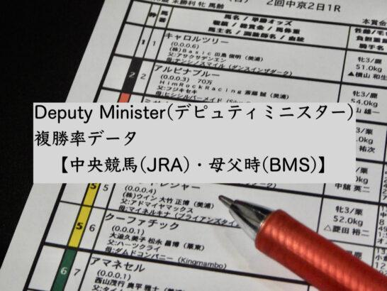 Deputy Minister(デピュティミニスター)複勝率データ【中央競馬(JRA)・母父時(BMS)】