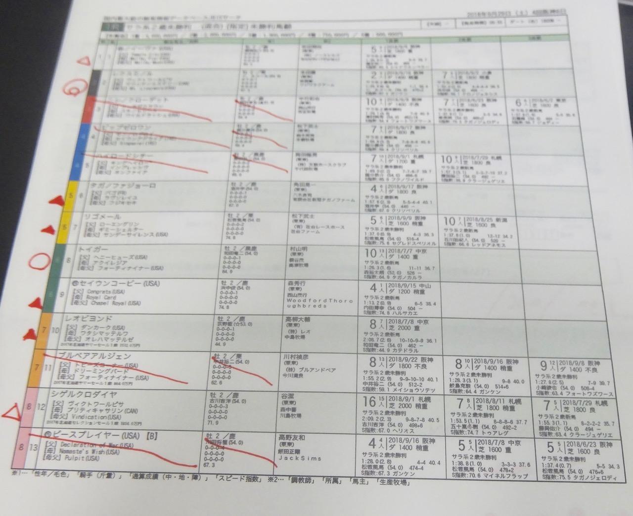 阪神1レース、2歳未勝利(ダート1800m)競馬予想。馬券本命、ヴィクトワールピサ産駒レクスミノル(C.ルメール騎手、本田優厩舎)2018.9.29