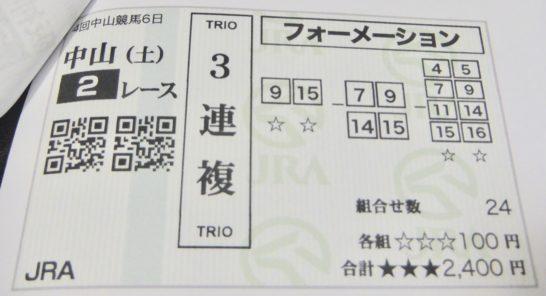 競馬予想・馬券の買い方として、3連複フォーメーションが当たる確率を高くしてくれる気がしたのです【複勝】