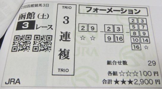 3連複は3着までに来ると予想する馬を買って当てる馬券3