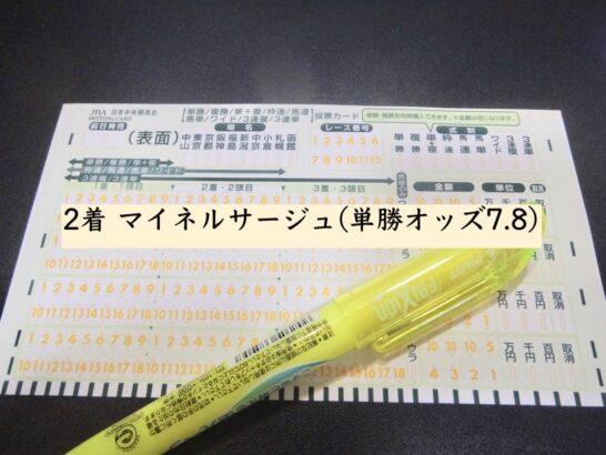 2着 マイネルサージュ(単勝オッズ7.8)