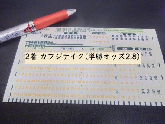 2着 カフジテイク(単勝オッズ2.8)