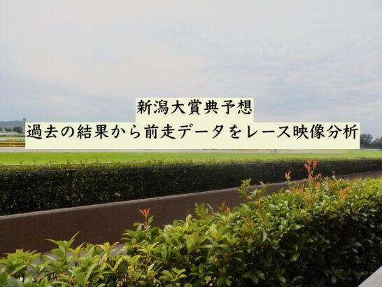 新潟大賞典予想。過去の結果から前走データをレース映像分析
