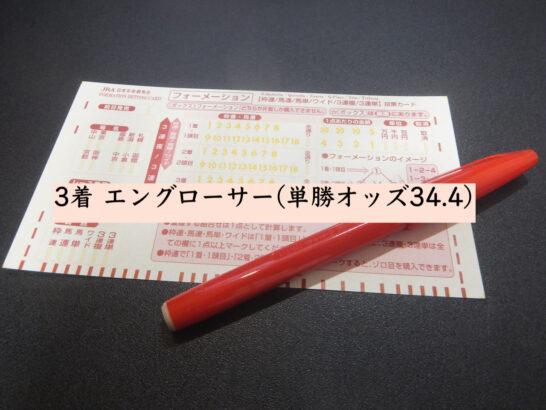 3着 エングローサー(単勝オッズ34.4)