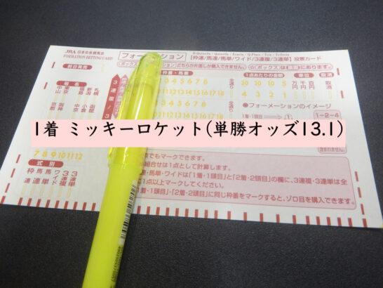 1着 ミッキーロケット(単勝オッズ13.1)