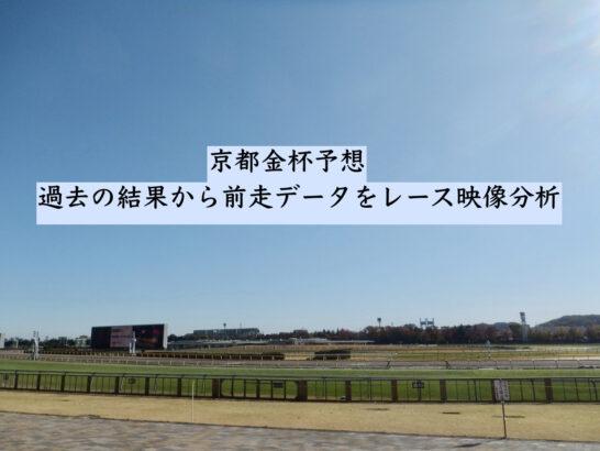 京都金杯予想。過去の結果から前走データをレース映像分析