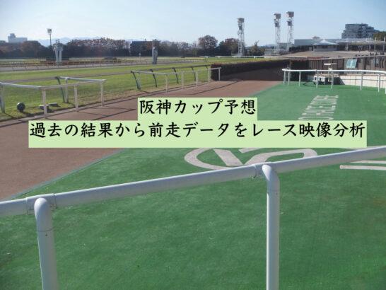 阪神カップ予想。過去の結果から前走データをレース映像分析