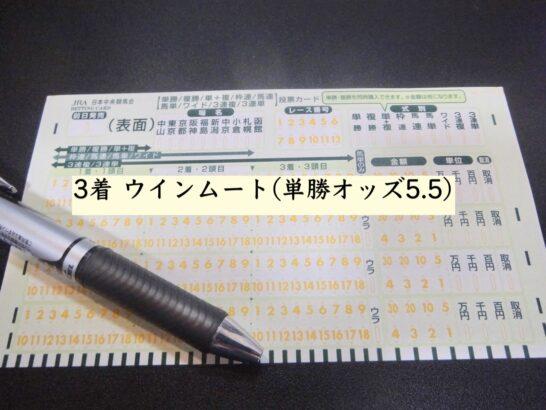 3着 ウインムート(単勝オッズ5.5)