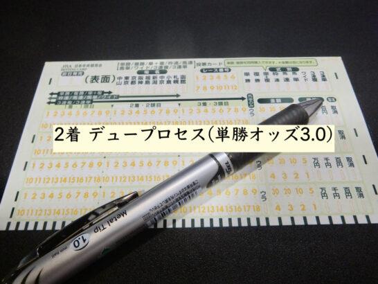 2着 デュープロセス(単勝オッズ3.0)