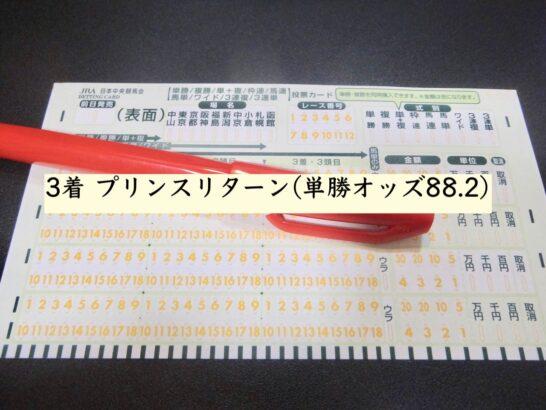 3着 プリンスリターン(単勝オッズ88.2)