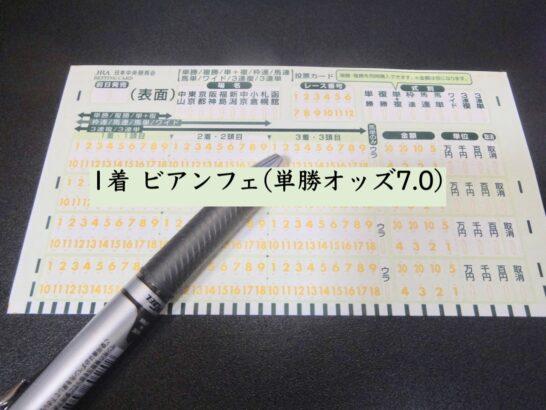 1着 ビアンフェ(単勝オッズ7.0)