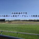 日経新春杯予想。過去の結果から前走データをレース映像分析