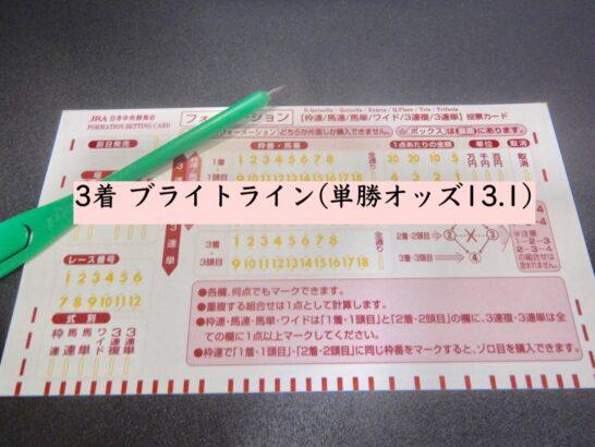 3着 ブライトライン(単勝オッズ13.1)