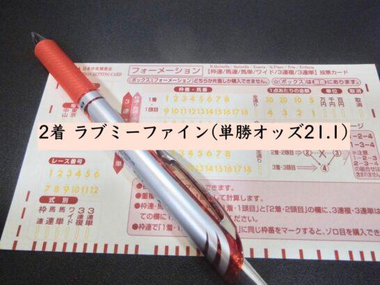 2着 ラブミーファイン(単勝オッズ21.1)