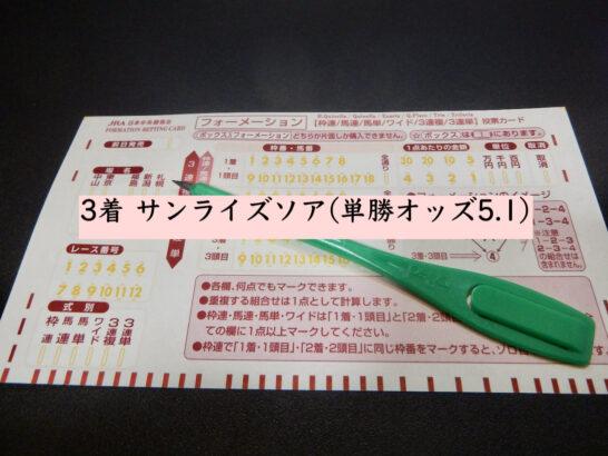 3着 サンライズソア(単勝オッズ5.1)