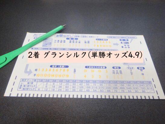 2着 グランシルク(単勝オッズ4.9)